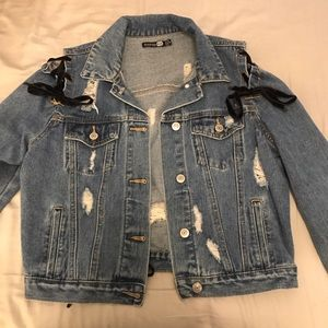 Boohoo Denim Laceup Jacket!